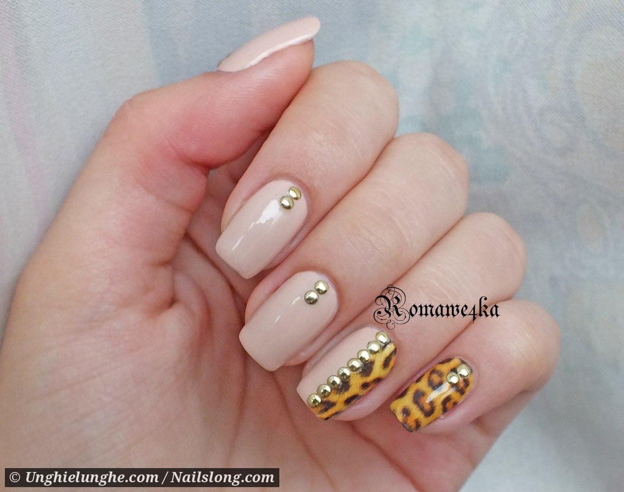 Дизайн ногтей клепками фото